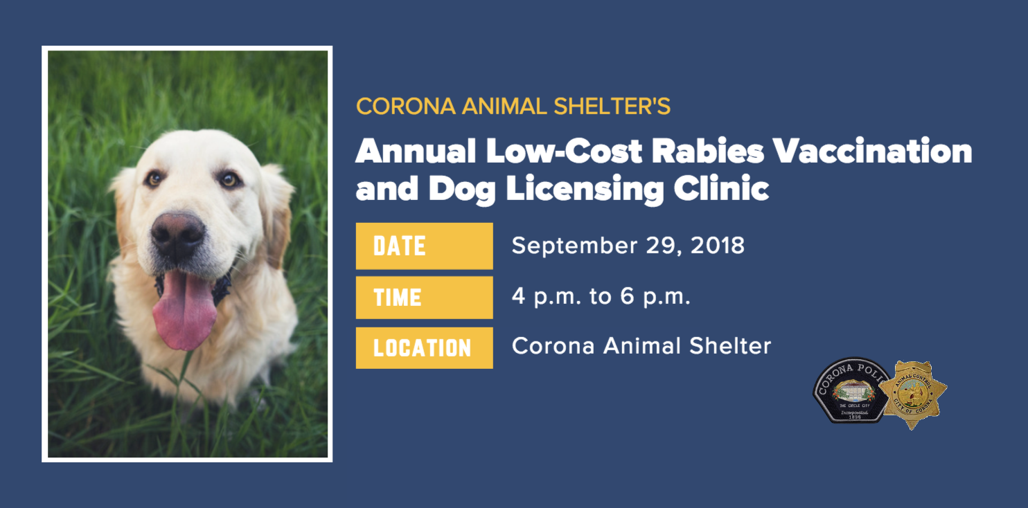 Annual Low-Cost Rabies Vaccination and Dog Licensing Clinic