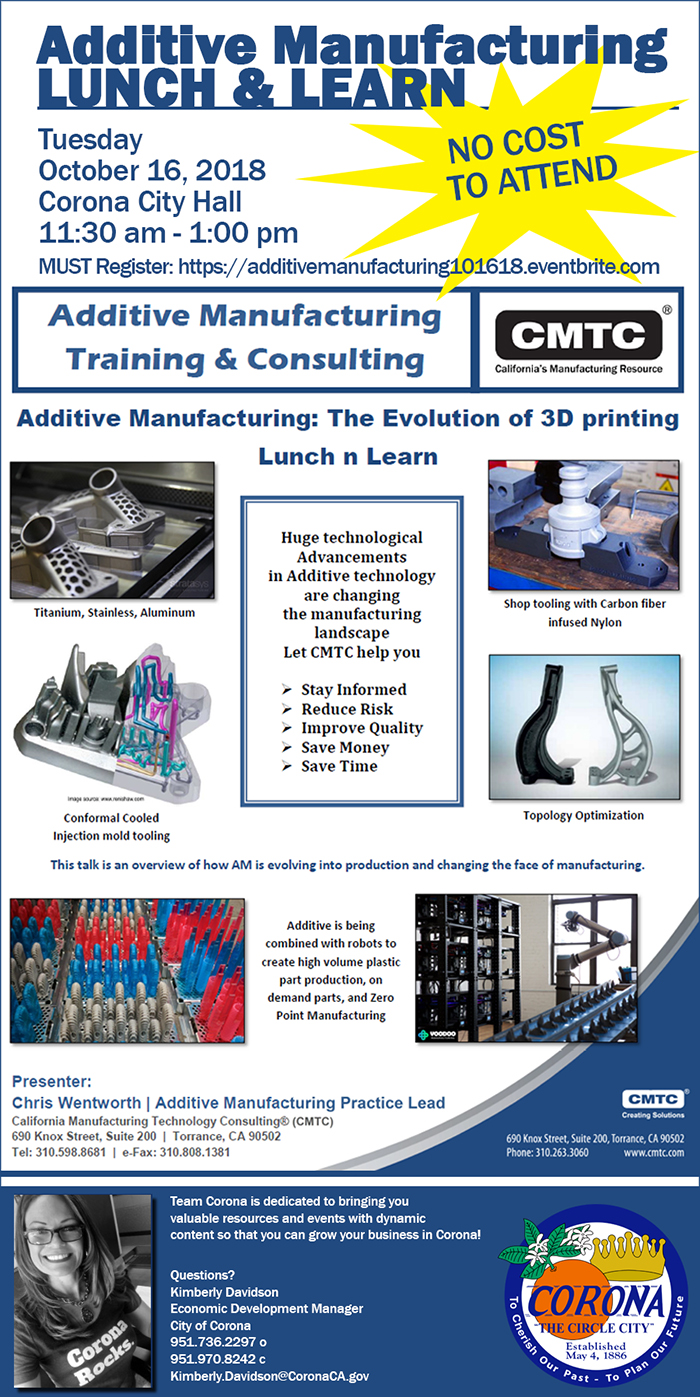 Additive Manufacturing Lunch & Learn