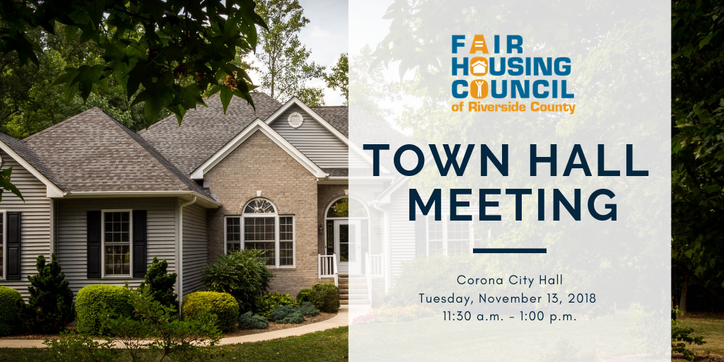fair housing council town hall