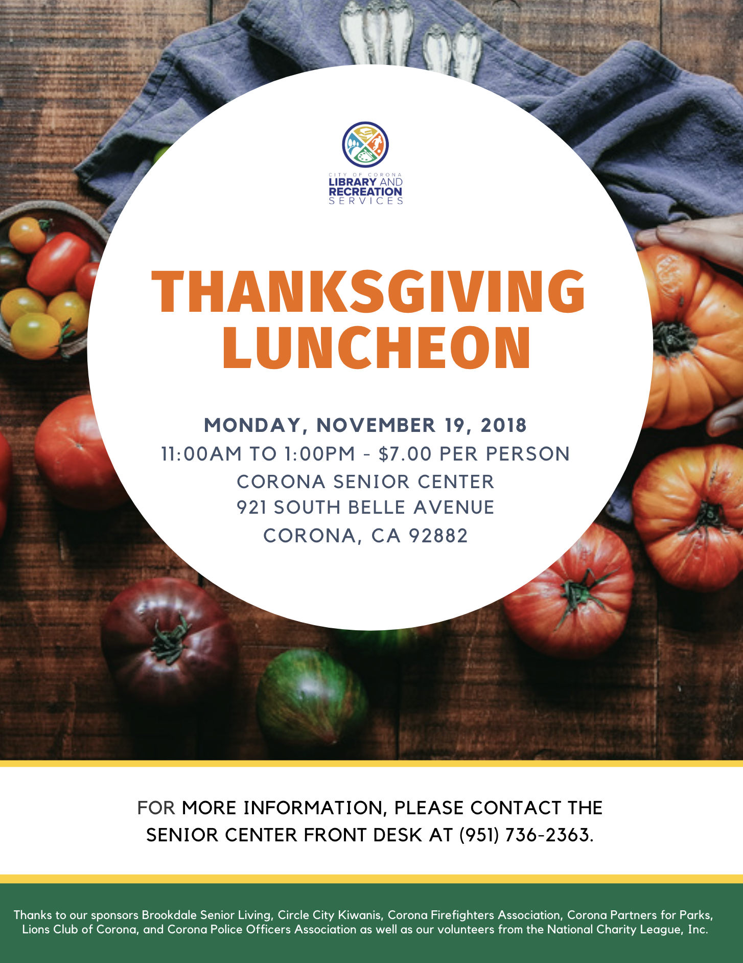 Thanksgiving Luncheon 2018