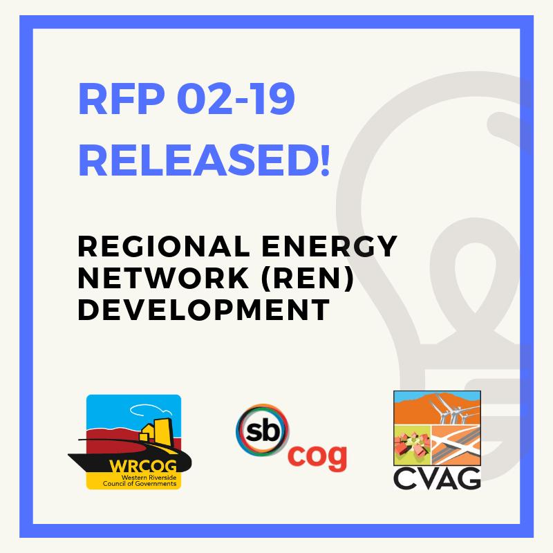 WRCOG needs your help! RFP for Regional Energy Network (REN