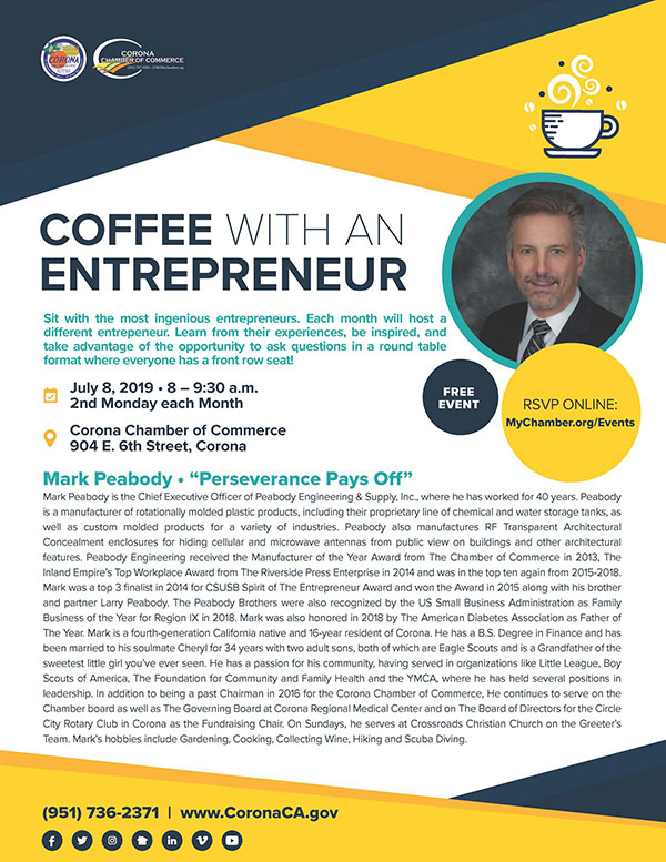 Coffee with an Entrepreneur, July 2019