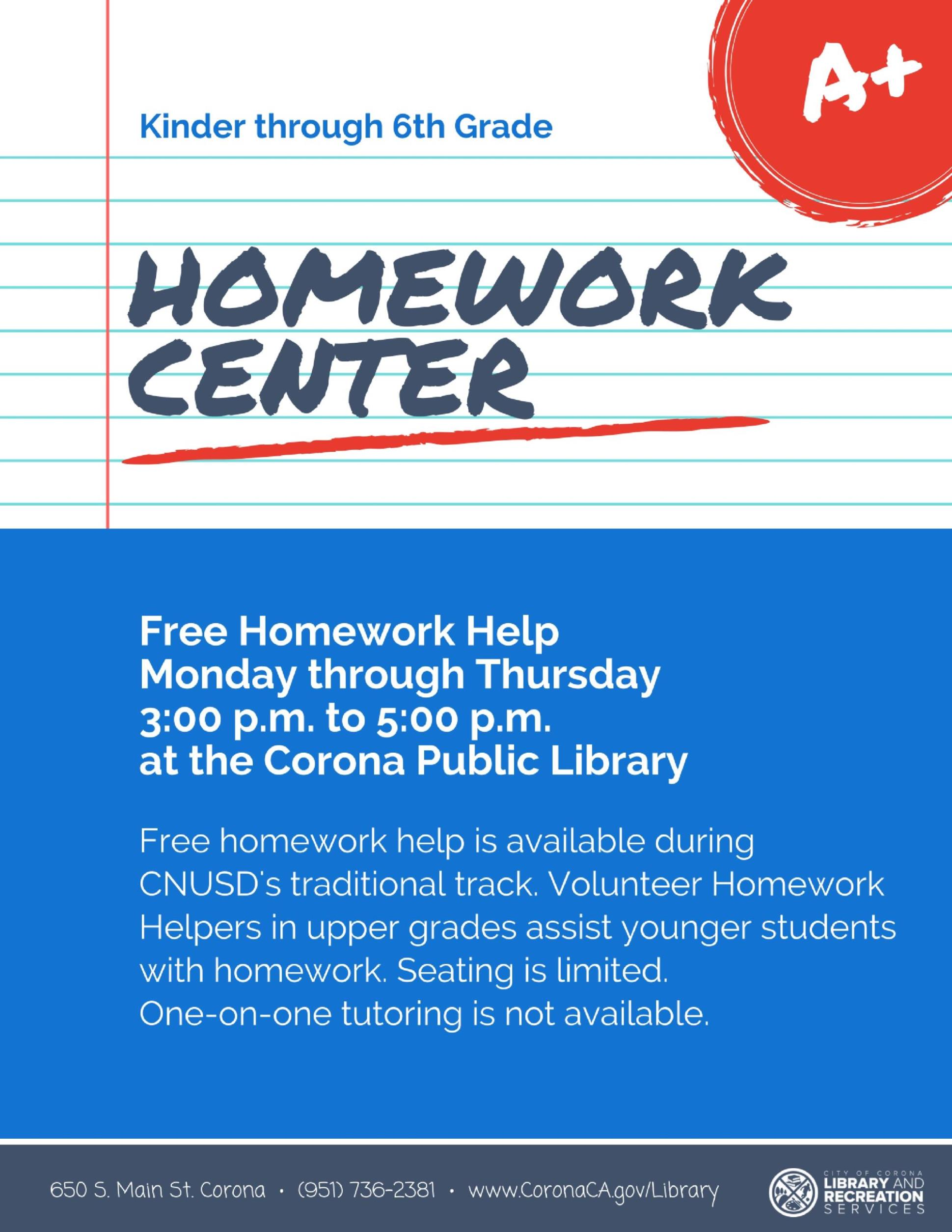 Homework Center Flyer