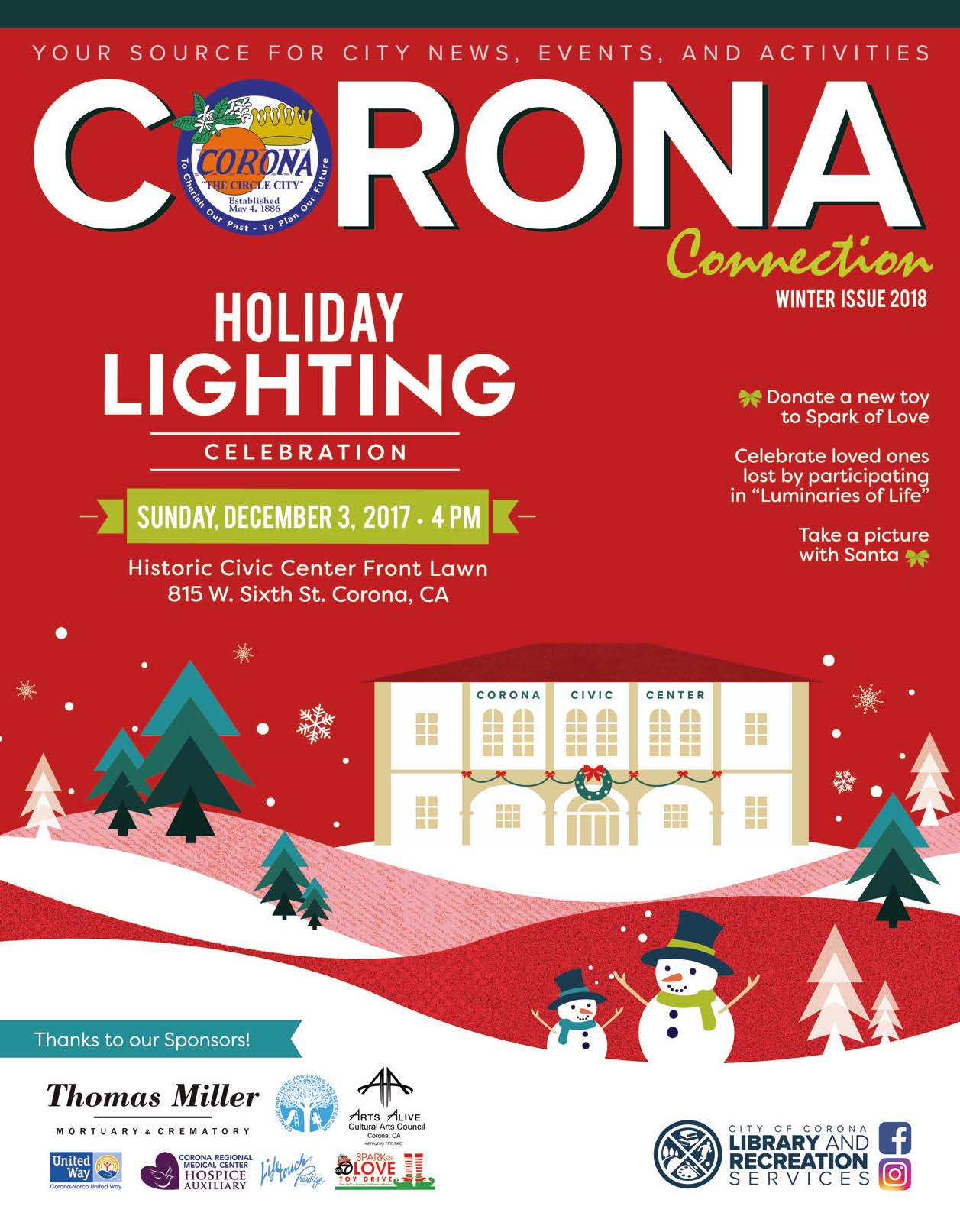 Corona Connection Winter Recreation Brochure 2017