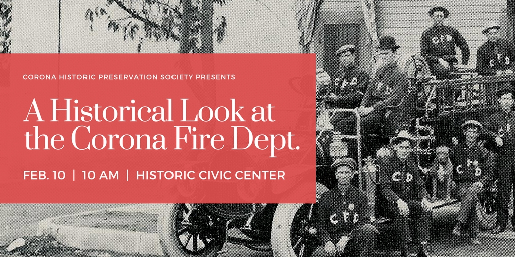 A Historical Look at Corona Fire Department