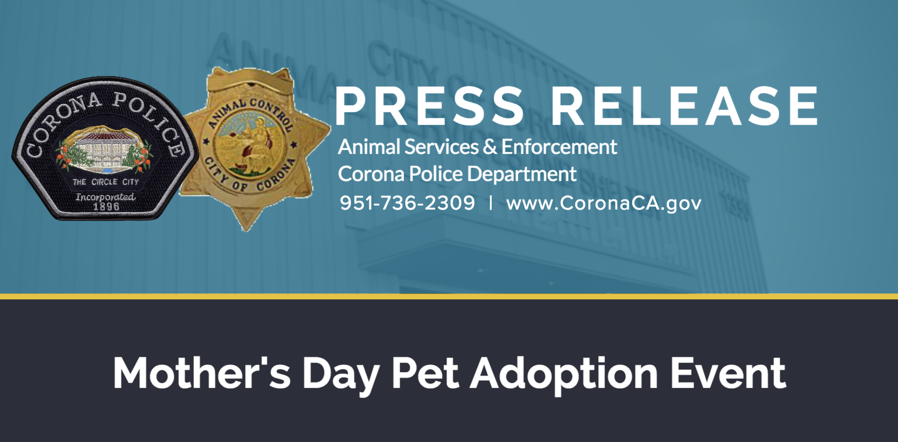 Mother's Day Pet Adoption Event