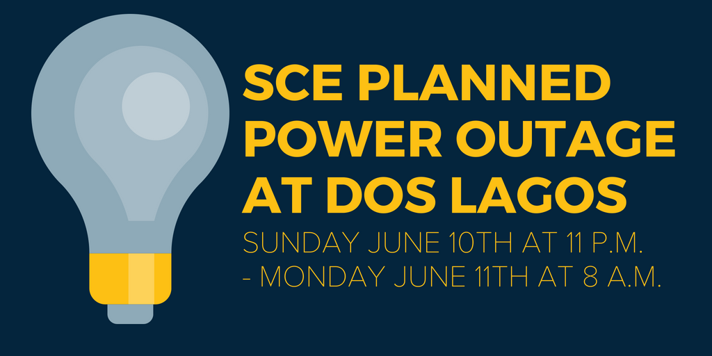 Planned Edison Outage Infrastructure Maintenance Dos Lagos
