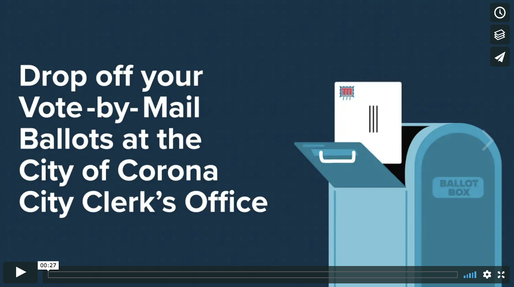 Drop off your Vote-by-Mail Ballots