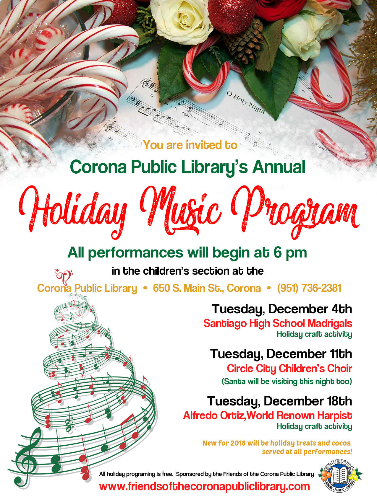 Holiday Music Flyer 2018