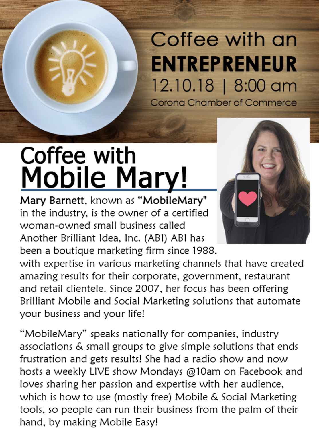 Coffee with an Entrepreneur