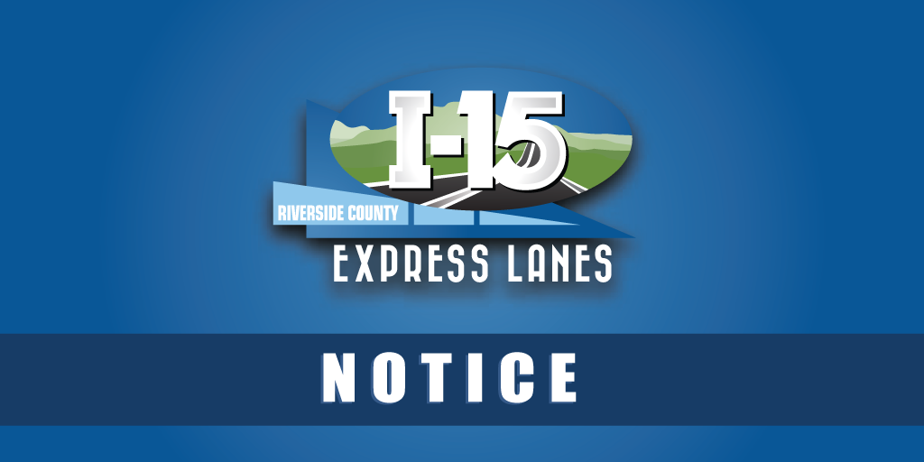 15 Express Lanes Notice