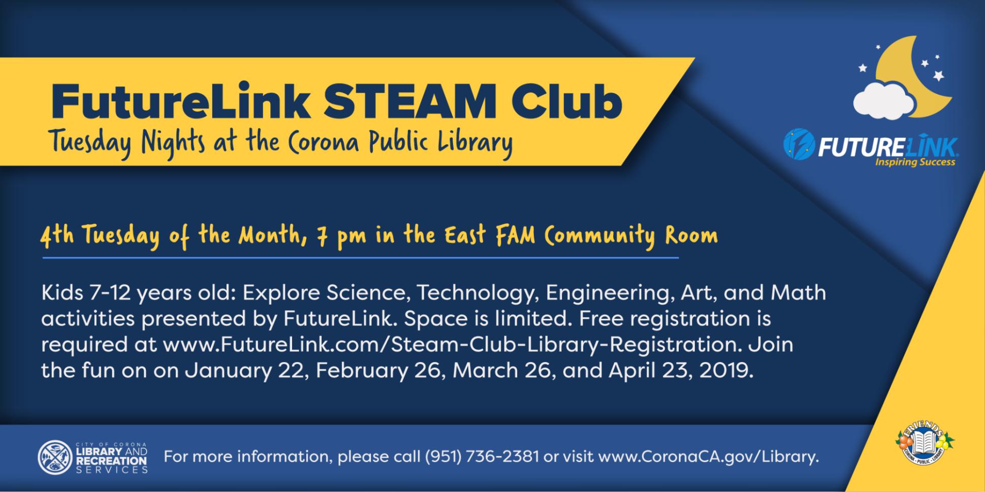 FutureLink STEAM Club | LaRS on the Go | City of Corona