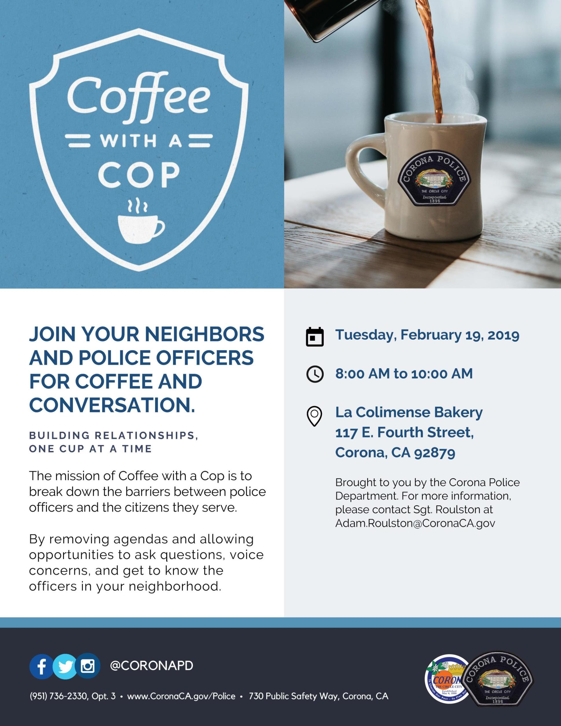 Coffee with a Cop February 2019