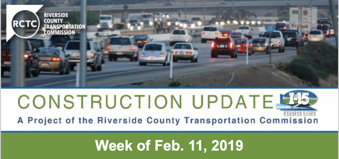 Construction Update - Week of Feb. 11, 2019