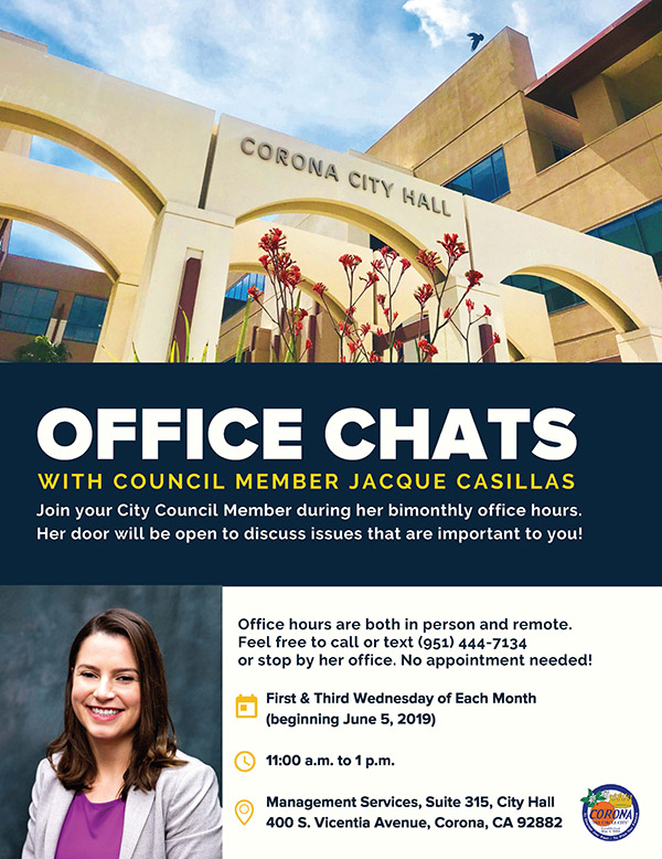 Council Member Jacque Casillas - Office Hours