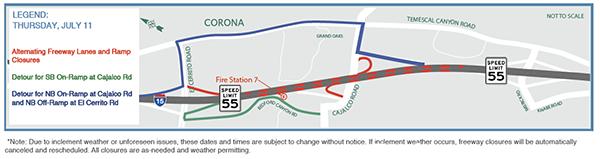 July 9-12: Cajalco Road / I-15 Interchange Improvement