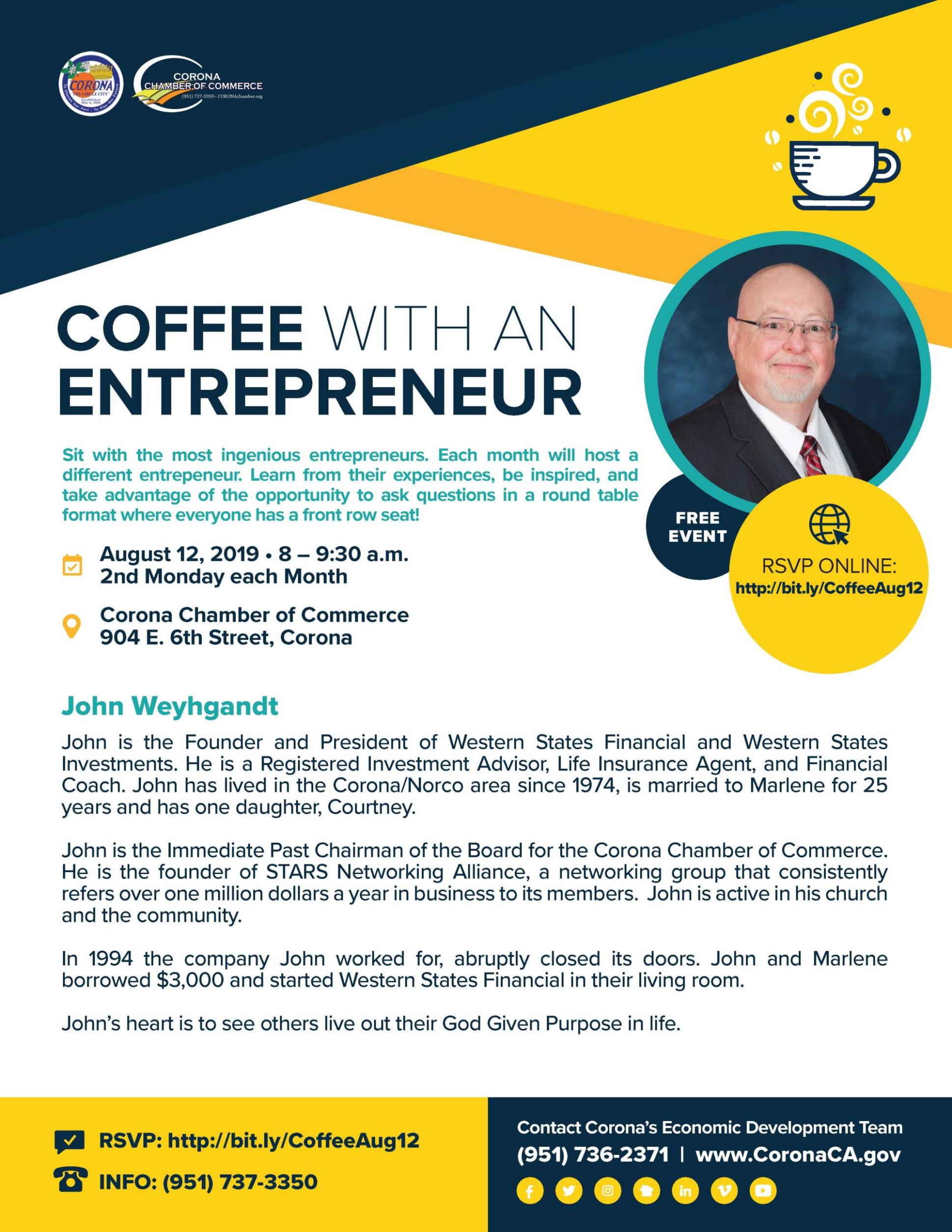 Coffee with an Entrepreneur - August