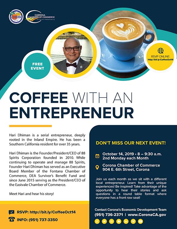 Coffee with an Entrepreneur Oct 2019