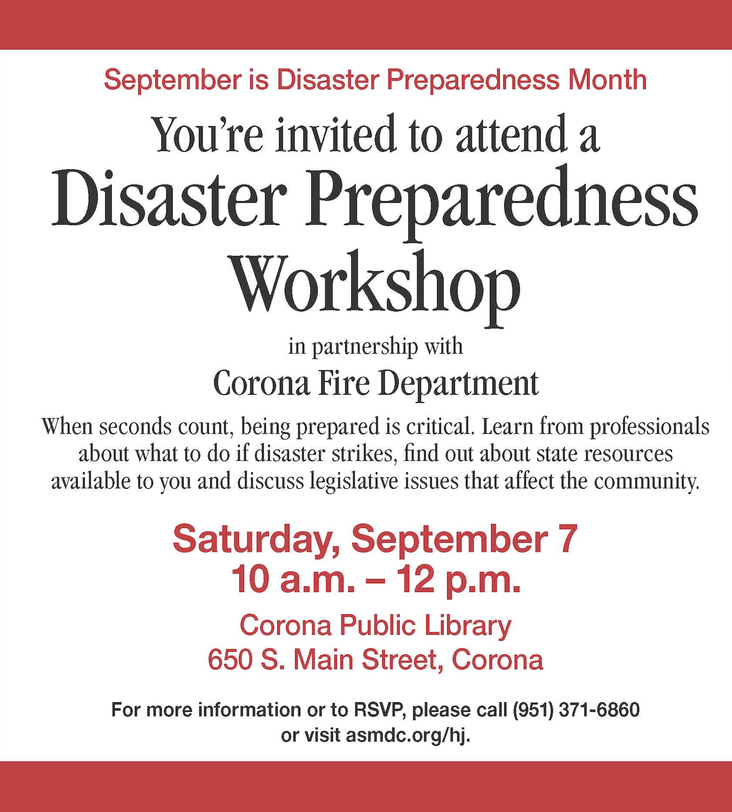 Disaster Preparedness with Assemblymember Sabrina Cervantes