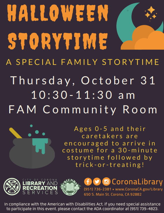 Halloween Storytime - October 31, 2019