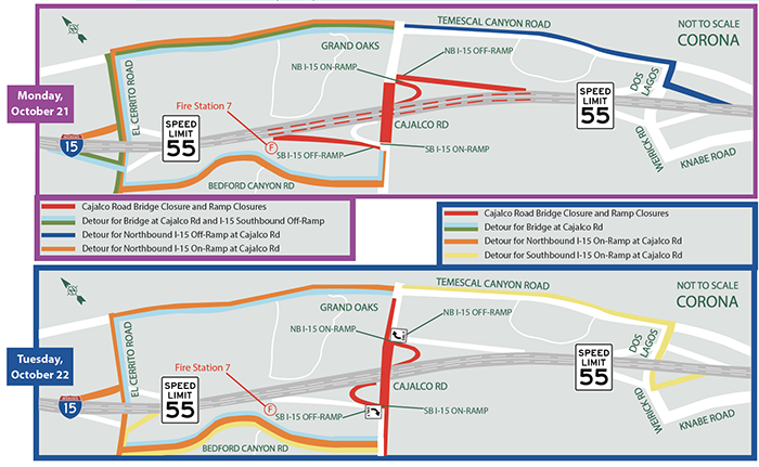 October 21-22   Cajalco Road / I-15 Interchange Improvement