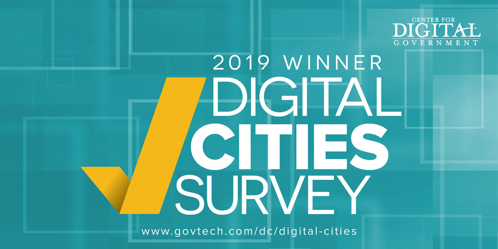 CORONA RECOGNIZED AS A 2019 DIGITAL CITIES SURVEY WINNER
