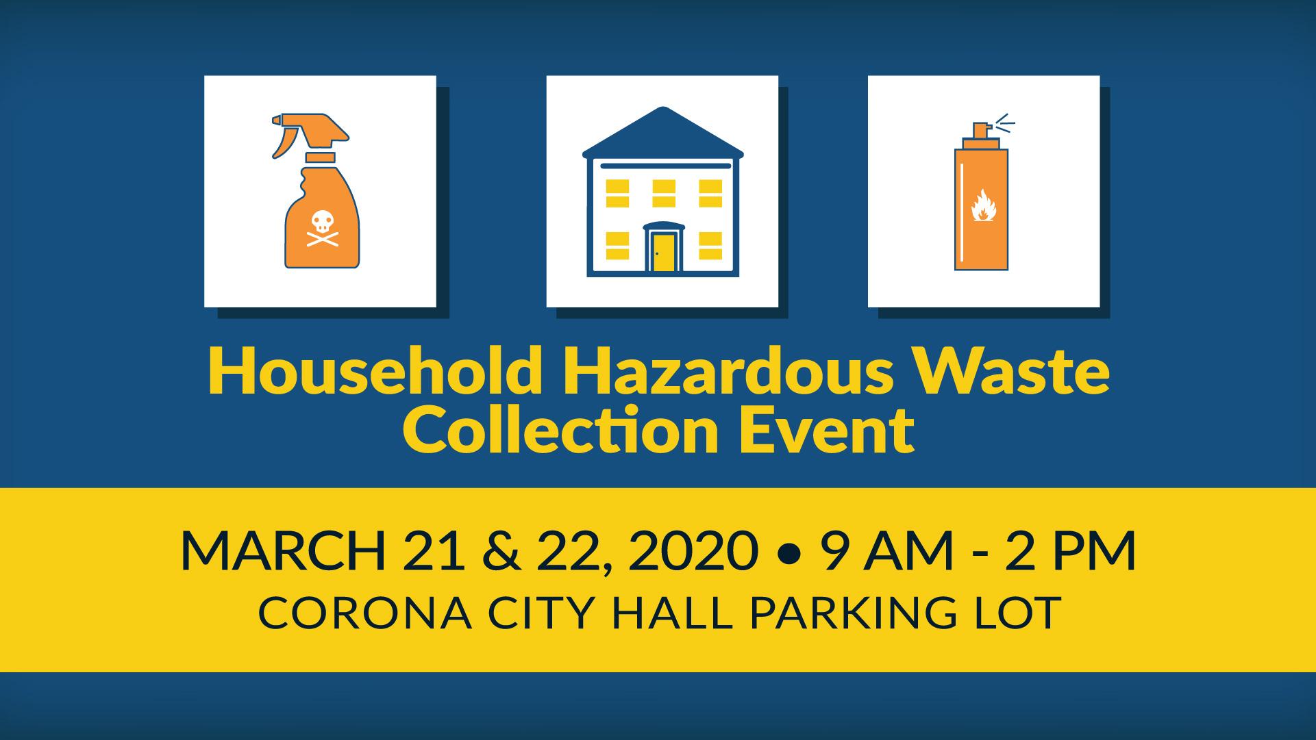 Household Hazardous Waste Collection Event March 2020