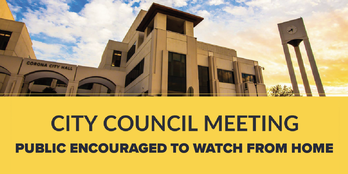 March 18th City Council Meeting, Public Encouraged to Watch from Home