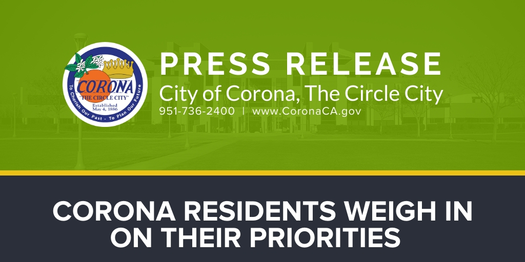 CORONA RESIDENTS WEIGH IN ON THEIR PRIORITIES
