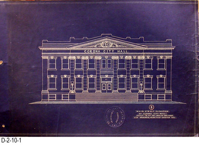 blueprint, city hall