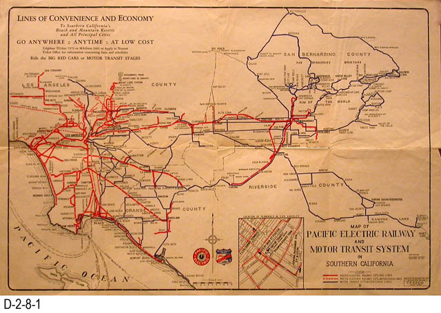 map, Pacific Electric