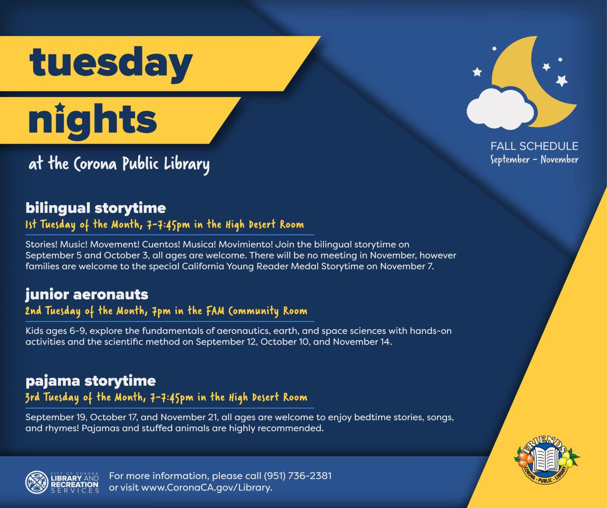 Tuesday Night Storytimes at Library